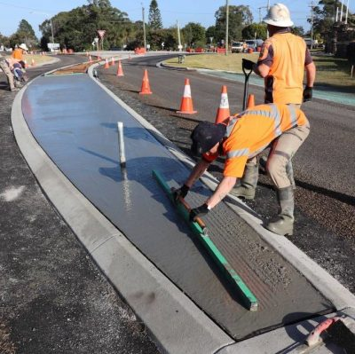 iQ Renew's recycled glass used in concrete trials in Port Stephens