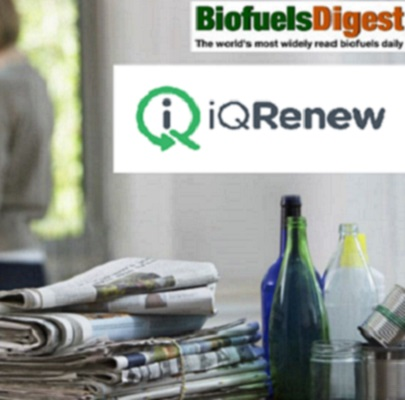 iQ Renew featured in Biofuels Digest
