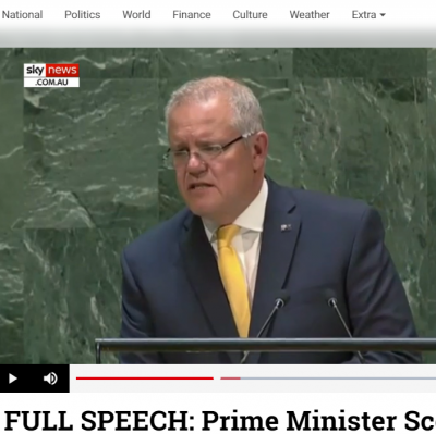 PM Scott Morrison shares our Cat-HTR technology in address to UN General Assembly