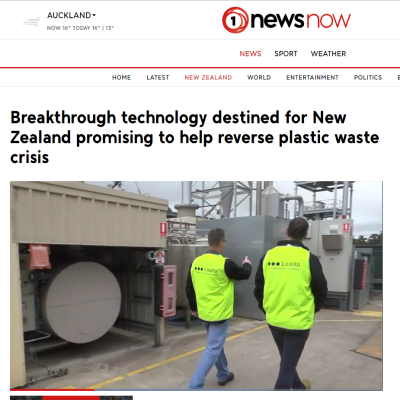 TVNZ Feature Licella and iQ Renew MOU with Oji Fibre Solutions of NZ