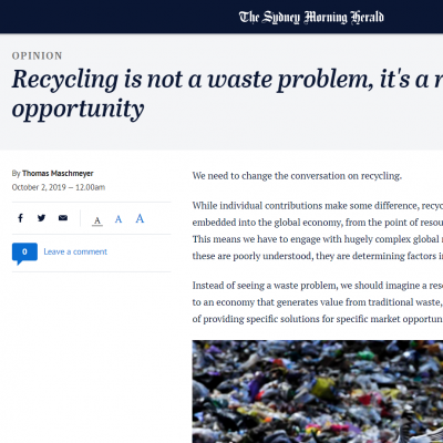 Professor Thomas Maschmeyer: Recycling is not a waste problem, it's a resource opportunity