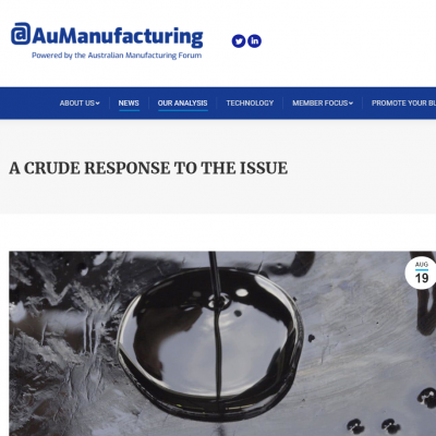 @AuManufacturing interviews iQ Renew's Andrea Polson on the Cat-HTR solution for plastic